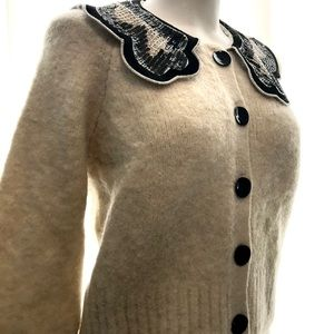 Zara Mohair Sequin Collar Cardigan